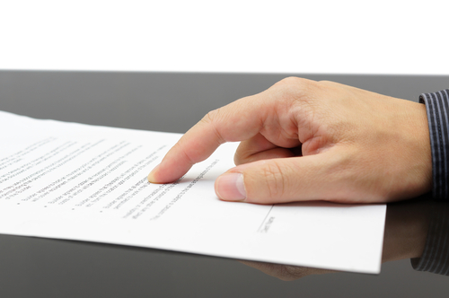 Paperwork for the division of finances after divorce