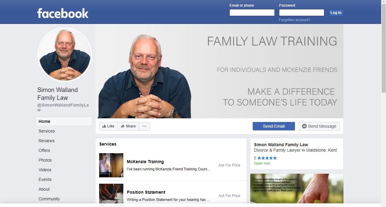 Simon Walland Facebook page