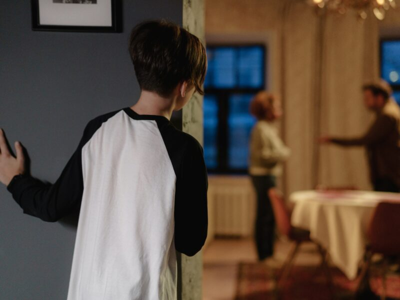 Child watching parents argue