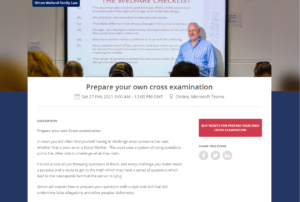 Prepare your own cross examination course from Simon Walland Family Law