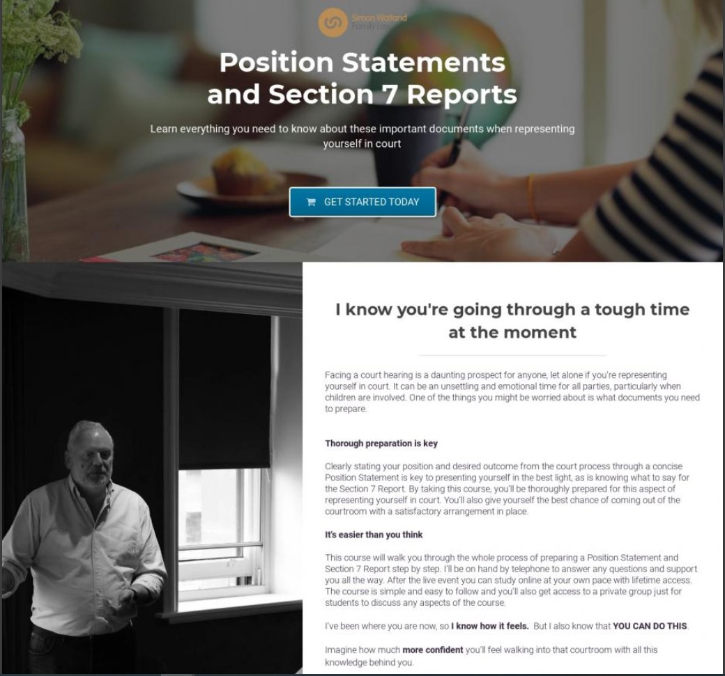 Position Statements and Section 7 Reports course Simon Walland