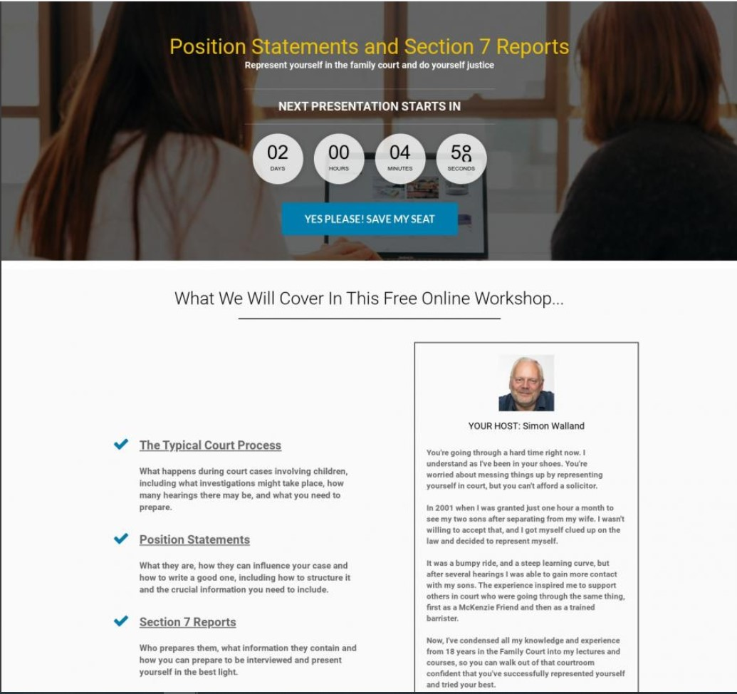 Position Statements and Section 7 Reports webinar Simon Walland